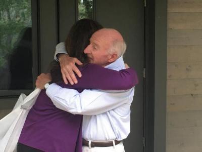 Rachel and Brodie Hugging