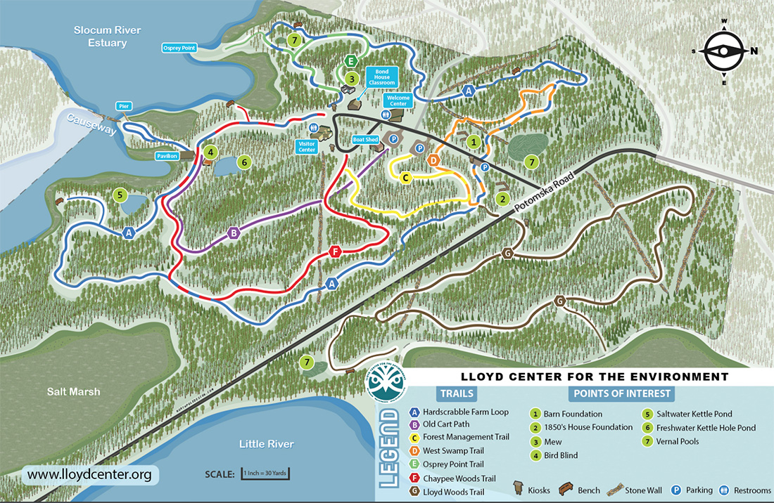Walking Trails – Lloyd Center for the Environment, Dartmouth MA on valley of fire state park map, charlie daniels park map, moraine state park fishing map, moraine park campground map, world's end state park map, arkansas diamond state park map, alpine valley ski resort map, horicon state park map, pacific beach state park map, union grove state park map, devil's den state park map, milton state park map, bennett spring state park map, moraine state park hunting map, lake arthur moraine state park map, anza-borrego desert state park map, cumberland state park map, geneva lake state park map, moraine lake canada map, moraine view state park map,
